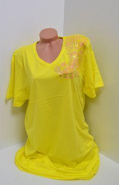 Жълта памучна нощница - Клара. Жълта нощница изработена от памук с къси ръкави и остро деколте. От едната страна е с апликация в розов цвят. Свежи цветове и мека материя, това е нощницата с която ще спите добре през цялата нощ.