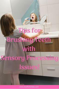 Tips and strategies for brushing teeth with sensory process issues. Oral defensiveness #spd #brushingteethwithspd #sensoryissues #problemswithteethbrushing #toddler