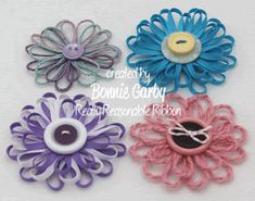 Bonnie from Really Reasonable Ribbon here today with a tutorial for an easy Jute Loopy Flower embellishment. Twine Flowers, Diy Flowers, Fabric Flowers, Paper Flowers, Felt Flowers, Crochet Flowers, Twine Crafts, Dyi Crafts, Crafts To Make