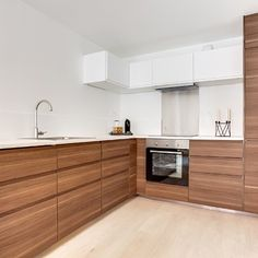 IKEA® Kitchen with Semihandmade Flatsawn Walnut fronts ... | {Moderne landhausküche ikea 38}