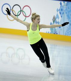 #Sochi2014 Women's Figure Skating Singles .... Going For Gold! #TeamUSA's Gracie Gold skates during a practice session at the figure stating practice rink at the 2014 Winter Olympics, Monday, Feb. 17, 2014, in Sochi, Russia.