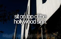 sit on the top of the hollywood sign