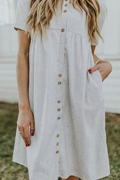 Kattystory Gray Short Sleeve A-Line Striped Pocket Casual Dress – kattystory 25 Inspiring Women Winter Outfit Ideas Modest Dresses, Casual Dresses, Summer Dresses, Church Dresses, Modest Outfits, Maxi Dresses, Casual Outfits, Modest Fashion, Fashion Dresses
