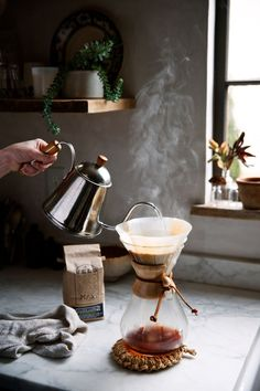 taking the time out to make gorgeous coffee - Beth Kirby's Chemex coffee / photo by Olivia Rae James