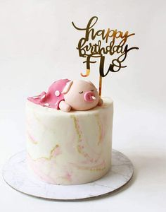 50 Most Beautiful looking Pig Cake Design that you can make or get it made on the coming birthday. Birthday Cake Roses, 12th Birthday Cake, 1st Birthday Cake For Girls, Funny Birthday Cakes, Pig Birthday, Piggy Cake, Girly Cakes, Cool Cake Designs, Pretty Cakes