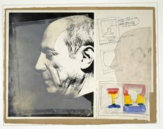 Sketch for Cups 2 Picasso / Cups 4 Picasso | Jasper Johns, Sketch for Cups 2 Picasso / Cups 4 Picasso (1970-1971)