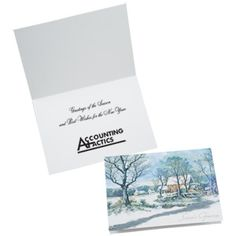 This imprinted greeting card carries the best sentiments of the season! Currier And Ives, Custom Greeting Cards, Company Logo, Place Card Holders, Messages, Thoughts, Text Posts, Text Conversations