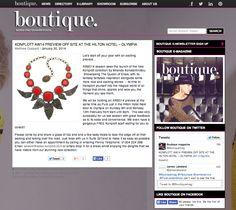 Boutique Magazine January 2014 Konplott Jewellery, - sneak peak AW14 Queen of Elves www.konplott.com