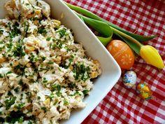 Wielkanocna sałatka chrzanowa z cebulką konserwową Fried Rice, Guacamole, Risotto, Potato Salad, Fries, Potatoes, Ethnic Recipes, Food, Potato