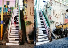 Piano Stairs-Santiago, Chile
