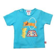 Zutano Unisex-baby Infant Hoop Jump Screen Shorts Sleeve T-Shirt, Pool, 12 Months Zutano. $14.00