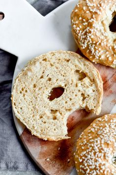 """Gluten free, grain free, nut free, no yeast, easy, healthy, paleo bagel recipe. Best easy to make paleo bagels that taste """"real""""! You wont know they dont have grains- because they taste and look like the real thing!"""
