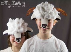 Cute Springtime Paper Plate Lamb and Sheep Masks