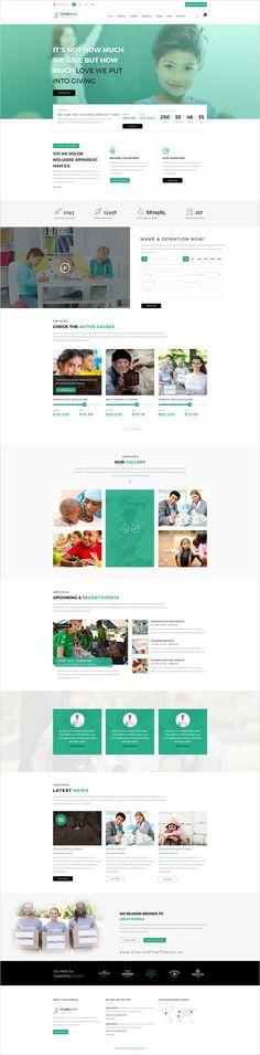 funduz charity crowdfunding volunteers psd template