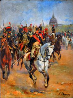 Marshal Ney and the Imperial Guard cavalry on parade in Paris