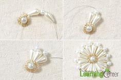 Přidat další perle, aby se perla korálkový květinu