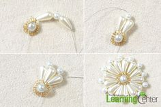 Add more pearl beads to make a pearl beaded flower