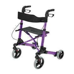 Your modern style will shine with the Gateway Rollator from Healthsmart. This ultra-lightweight model features a large storage tote with shoulder strap so it can be removed and used as a purse. The du