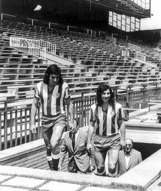 Ramon Heredia y Ruben Ayala en su presentacion en el Atletico de Madrid.