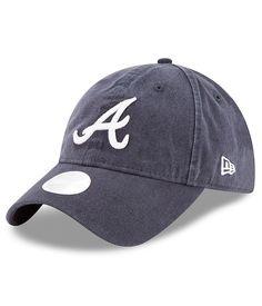 the latest 62457 851eb Woman s Atlanta Braves New Era Navy Preferred Pick Adjustable Hat