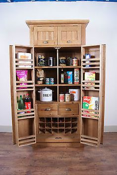 Free standing kitchen pantry oyzwgw kitchens pinterest shelves sliding shelves and we - Kitchen pantry free standing ...