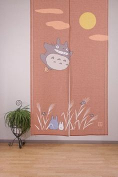 Noren Japanese Curtain Studio Ghibli My Neighbor Totoro Moon Ver Made in Japan | eBay