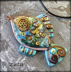 inspiration- layered shrink with metal wire & beads