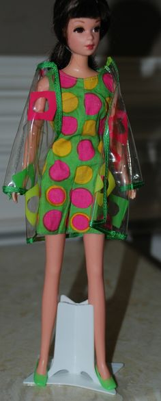 vintage barbie francie mod clear coat 'pazam' set