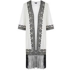 Chicnova Fashion Embroidery Kimono (135 BRL) ❤ liked on Polyvore featuring intimates, robes, kimono robe, print kimono, patterned robes, embroidered kimono and embroidered robes
