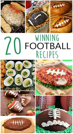 20 Winning Football Recipes - a tasty collection of football shaped food to make for the Big Game!