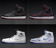 Nike SB Lance Mountain Jordan1    Jordan1にペンキを塗り使うごとに徐々に本来の色になるモデル 左右非対称 Lance Mountainが当時バッシュだったJordan1をこのように使っていた。彼のビデオにもその姿はうつされている。