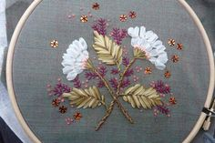 White Flowers in July - Embroideries by Sophie