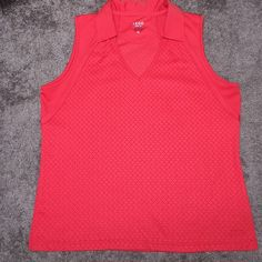 IZOD Cool FX Tank Top ~ XL  IZOD Cool FX Tank Top ~ XL Red ~ 100% Polyester ~ V-neck ~ Collar IZOD Tops Tank Tops