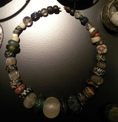 Viking quartz bead necklace from National Museum of Denmark in Copenhagen.