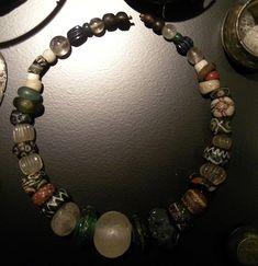Viking quartz bead necklace from National Museum of Denmark in Copenhagen.