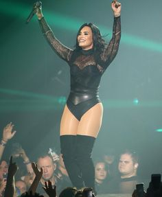 Demi Lovato Future Now Tour Demi Lovato Body, Look Fashion, Womens Fashion, Woman Crush, Sexy Women, Hot Girls, Beautiful Women, Leotards, Actresses