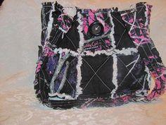 New Muddy Girl Camo and Black Inspired Handbag/ Muddy Girl