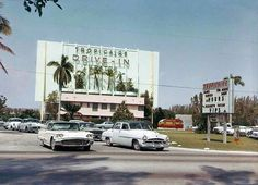 Tropicaire Drive In Theater. Vintage Florida, Old Florida, South Florida, South Miami, Florida Girl, 80s Aesthetic, Aesthetic Vintage, Arcade, Collage
