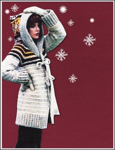 CROCHET Hooded Sweater PATTERN Vintage 70's by GrandmaHadItGoinOn $