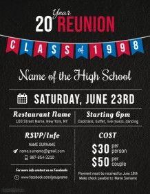 Class Reunion Invitation Template Free Awesome Create High School Reunion Flyers Line Invitation Flyer, Printable Invitation Templates, Event Flyer Templates, Poster Templates, Class Reunion Invitations, Retirement Party Invitations, Invites, School Reunion, High School
