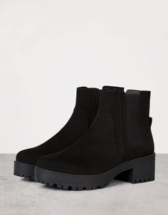 Elastic platform ankle boots. Discover this and many more items in Bershka with…