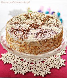 Tort Orzechowy Z Gruszkami. (Light, Nutty Cake with Pears) Use Google Translate