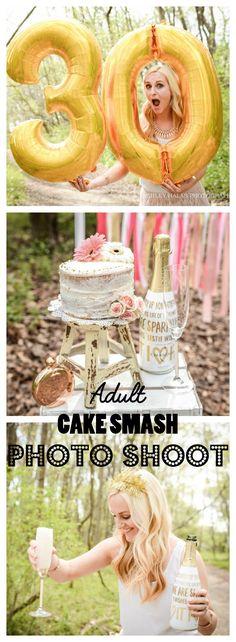 Adult Cake Smash Photo Shoot