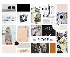 brunch-isms blog mood board | Anelise Salvo Design Co. | a boutique graphic design studio.