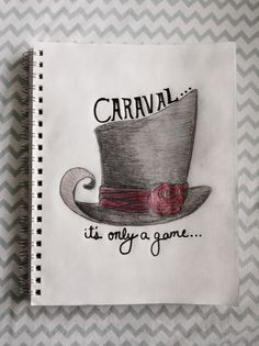 Caraval, Stephanie Garber, Caraval Book, Fan Art, Books, Book, Fandom, Fangirl, Circus, Top Hat, Rose, Red, Caraval