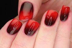 #valentines Very Vampy Gradient Nails