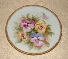 Vintage Handpainted NORLEANS Plate with by KrsiOnceUponATime