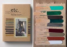 etc by Sibella Court Layout Inspiration, Fabric Wallpaper, Color Swatches, Book Making, Bookbinding, Layout Design, Good Books, Book Art, Neo Victorian