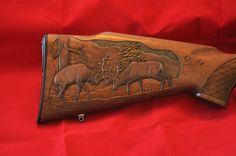 wood gun stock carving patterns | Three beautifuly unique gunstock carvings