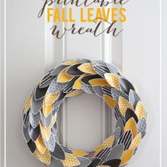 This is so cool - printable fall leave wreath at @Jamielyn {iheartnaptime.net}